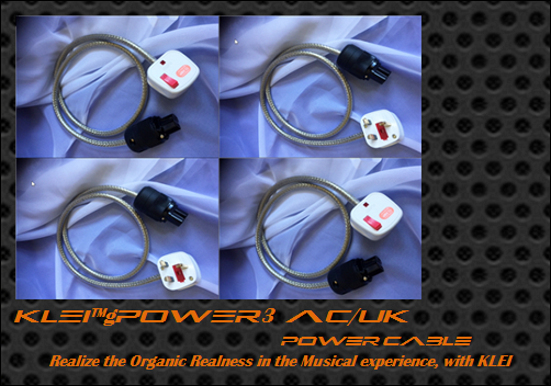 KLEI gPOWER3 AC/UK power cable